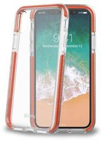 CELLY HEXAGON COVER FOR IPHONE X CLEAR ORANGE
