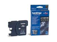 BROTHER LC-1100 ink cartridge black high capacity 19ml 900 pages 1-pack (LC1100HYBK)