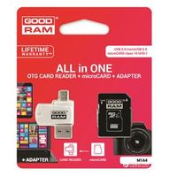 GOODRAM microSDHC Card 16GB 4 in 1 UHS-I class 10 retail (M1A4-0160R11)