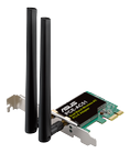 ASUS WL PCE-AC51 Dual-Band Wireless-AC750 PCI-E Adapter. 2x detachable antenna