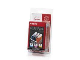 CANON BCI-6 CMY BLISTER MULTIPACK COLOUR INK CARTRIDGE (4706A029)