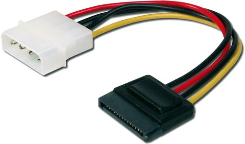 ASSMANN Electronic INT. POWER SUPPLY CABLE 0.15M IDE - SATA 15PIN CONNECTOR UL ACCS (AK-430300-002-M)