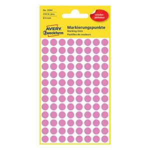 AVERY 3594 Handwriting labels removable Ø8 pink (416) (3594*10)
