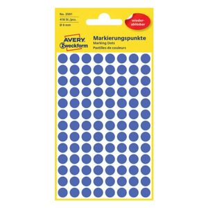 AVERY 3591 Handwriting labels removable Ø8 blue (416) (3591*10)
