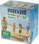 MAXELL Mini Digital Video Cassette 60 min DVM-60 *5-pack*