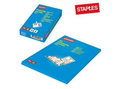 STAPLES Laminat STAPLES A4 klar 125 mic 100/pk. (6630601)