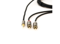 STOLTZEN Lydkabel 3,5mm - 2xRCA flex 3 m Myk, feksibel kabel, 2 x 3mm, gold conn.