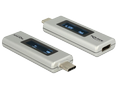 DELOCK USB Type-C PD Adapter, OLED display for Voltage and Ampere, sil
