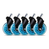 "L33T 3"" Casters for gaming chairs (Blue) Univ., 5 pcs (XSF046 BLUE)"