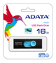 A-DATA ADATA UV220 16GB Black/ Blue USB 2.0