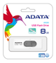 A-DATA ADATA UV220 8GB White/ Gray USB 2.0