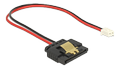 DELOCK Cable Power 2 pin female to SATA 15 pin receptacle (5 V), metal