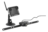 """TECHNAXX rearview camera for cars, 3.5"""" TFT LCD monitor, black"""
