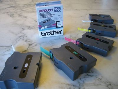 BROTHER P-Touch Tape Black On White 24mm  (TX-251)