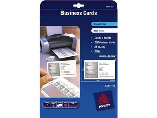 AVERY Quick & Clean Business Card White 85x54mm 200g 10 Cards/ Sheets **25-pack** (C32011-25)