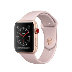 APPLE WATCH SERIES 3 GPS + CELL 42MM GOLD ALUMN PINK SAND SPORT BAND  IN CONS (MQKP2FS/A)