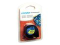 DYMO Letratag Plastic tape yellow 12mm x 4m           91222