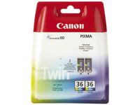 CANON CLI-36 ink cartridge colour 2-pack blister with alarm (1511B018)