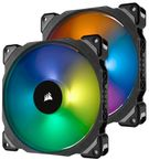 ML140 Pro RGB 140mm Premium Magnetic Levitation RGB LED PWM Fan 2-Pack