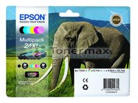 EPSON Ink Cart/24XL Elephant Multi 6clrs RS