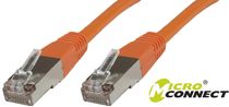 MICROCONNECT F/UTP CAT5e 0.50m Orange PVC