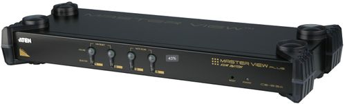 ATEN 4p PS2 KVM, Supp PS/2, USB,SUN (CS9134Q9-AT-G)