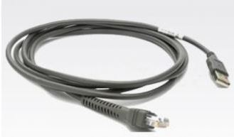 ZEBRA CABLE - SHIELDED USB: SERIES A CONNECTOR,  7FT. (2M), STRAIGHT, BC 1.2 (CBA-U46-S07ZAR)