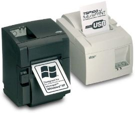STAR MICRONICS Star TSP143IIU,  USB, Eco black, cutter, incl power supply, Swe Printer (39464081)