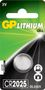 GP BATTERIES LITHIUM BUTTON CELL CR2025