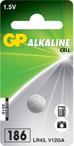 GP ALKALINE BUTTON CELL LR43 (186 1-P 186)