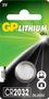 GP LITHIUM BUTTON CELL CR2032