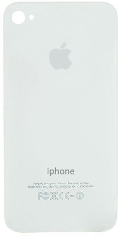 MicroSpareparts Apple iPhone 4 White Back (MSPP70730)