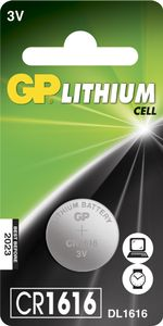 GP LITHIUM BUTTON CELL CR1616 (CR1616 1-P)