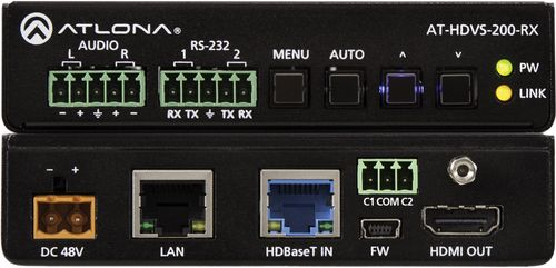 Atlona HDBaseT to HDMI Receiver w/ Scaler, Ethernet, RS232, and IR (100 m) (AT-HDVS-200-RX)