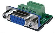 BTX MaxBlox DB9 female to terminal block (CD-MX9F)
