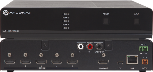 Atlona 4K/UHD Five-Input HDMI Switcher (AT-UHD-SW-51)