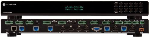 Atlona 4K/UHD, 8×2 Multi-Format Matrix Switcher with Dual, HDBaseT and Mirrored HDMI Outputs (AT-UHD-CLSO-824)