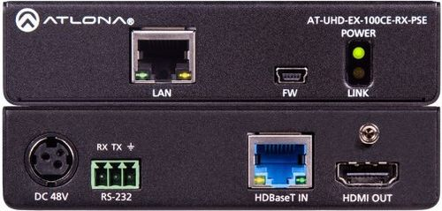 Atlona 4K/UHD 100M Receiver (Power Device) 100m - HDBaseT (AT-UHD-EX-100CE-RX-PSE)
