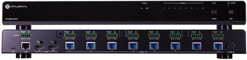 Atlona 4K/UHD 8-Output HDMI to HDBaseT Distribution Amplifie. 70 meter. Leveres uden modtagere. (AT-UHD-CAT-8)