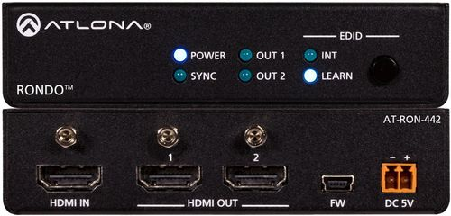 Atlona 4K HDR Two-Output HDMI Distribution Amplifier (AT-RON-442)