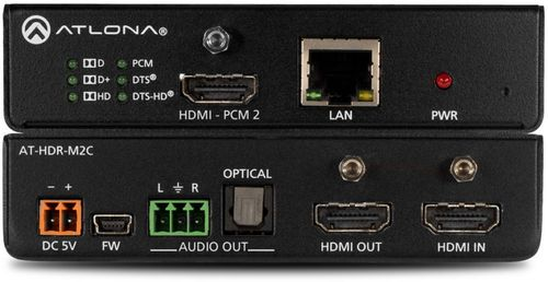 Atlona 4K/UHD HDRbHDMI Multi-Channel to Two-Channel Audio Converter (AT-HDR-M2C)