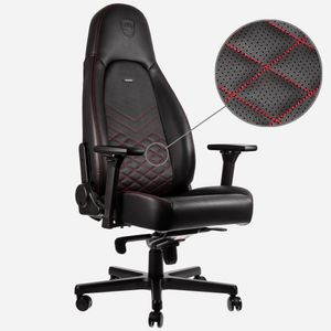 Noblechairs Pu Series Black Gamer Rød Stol Sort Icon Red 80knwOP