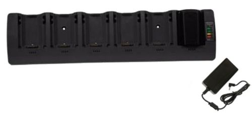 ZEBRA 6 SLOT SPARE BATTERY CHARGER,  MUST ORDER REGIONAL AC LINE CHORD SEPARATELY (ST3006-WW)