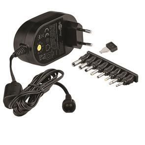 GOOBAY 5 V - 15 V Universal Power Supply, 1.8 m - incl. 8 DC adapter - max. 36 W and 3 A (59034)