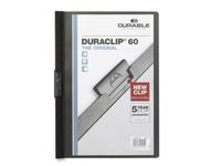 DURABLE Klemmappe DURACLIP A4 60 ark sort (2209-01*25)