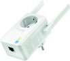 TP-LINK 300Mbps WLAN-N Wall Plugged Range Extender with Pass Through Atheros 2T2R 2.4GHz 802.11n/ g/ b Power on/off Repeater Button