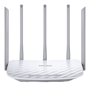 TP-LINK AC1350 Dual Band Wireless Router Qualcomm 867Mbps at 5GHz + 450Mbps at 2.4GHz 802.11ac/ a/ b/ g/ n 1 10/100M WAN + 4 10/100M LAN (ARCHER C60)