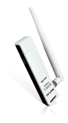TP-LINK N150 WLAN High Gain USB Adapter, Atheros-Chipsatz, 1T1R, 2,4GHz, 802.11b/g/n, removeable antenna