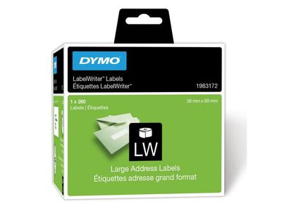 DYMO LW Large address labels - Low-Entry Volume, 89x36mm, 1x260 (1983172)