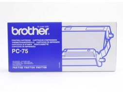 BROTHER Ribbon Cassette For FAXT104/ T106 (PC75)
